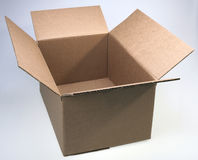 Box, brown Stock Photo