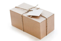 Box of brown cardboard Royalty Free Stock Photos