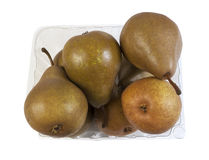 Box with brown Pears Royalty Free Stock Images
