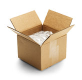 Box and Bubble Wrap Royalty Free Stock Image