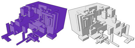 Box Build Abstract Royalty Free Stock Image