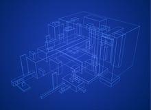 Box Build Blueprint Royalty Free Stock Photos