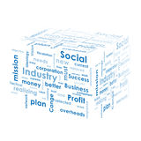 Box with business words Stock Photography