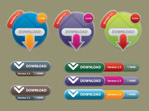 Box and buttons to interface websites royalty free stock image
