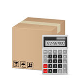 Box and calculator Stock Image