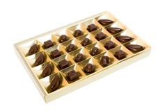Box of candies royalty free stock photography