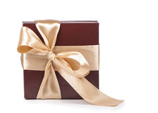 Box with candies and golden tape Stock Image