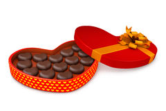 Box with candies to the day of Saint Valentin Royalty Free Stock Image
