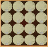 Box of canned food Royalty Free Stock Photo