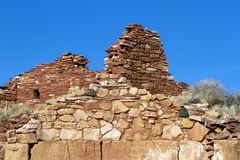 Wupatki National Monument preserves and protects ancient Native American ruins in northern Arizona. Box Canyon is an Anasazi ruin in Wupatki National Monument in Stock Photo