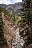 Box Canyon, Ouray Colorado Stock Photo