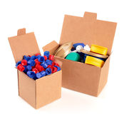 Box and caps Stock Photography
