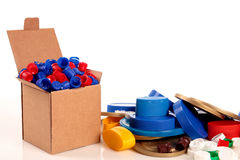 Box and caps Stock Images