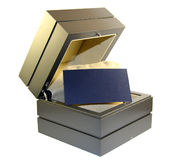 Box with a card Royalty Free Stock Image