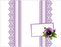 box card gift lace violet 皇族释放例证
