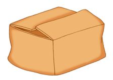 Box of cardboard Royalty Free Stock Image