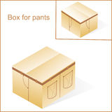 Box, cardboard  for jeans Stock Images