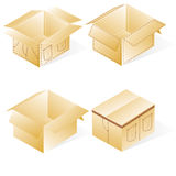 Box, cardboard  for jeans Royalty Free Stock Images