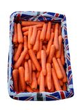 Box of Carrots Stock Photo