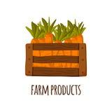 Box with carrots Royalty Free Stock Photos