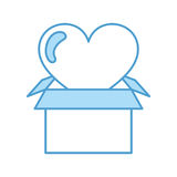 Box carton packing with heart Stock Images