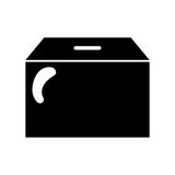 Box carton packing icon Stock Images