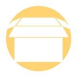 Box carton packing icon Royalty Free Stock Image