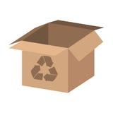 box carton with recycle symbol Royalty Free Stock Photos