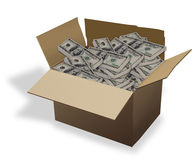 Box of Cash. Royalty Free Stock Image