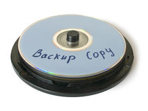 Box with CD - backup copy. Box with compact disks - backup copy, isolated Stock Photography