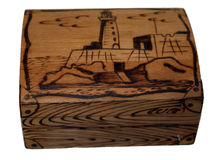 Box of cedar. Stock Images