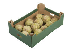 Box of Celeries Royalty Free Stock Image