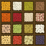 Box of cereals and legumes Stock Photography