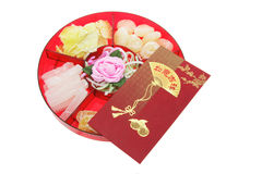 Box of Chinese New Year Delicacies Stock Image