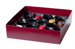Box of chocolate. Royalty Free Stock Photo