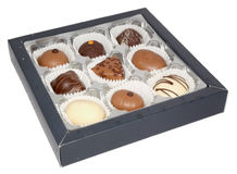 Box with chocolate bonbons Stock Image