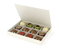 Box with chocolate candies Royalty Free Stock Image