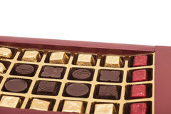 Box of chocolate candies Royalty Free Stock Photo