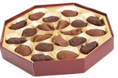 Box of chocolate candies Stock Photo