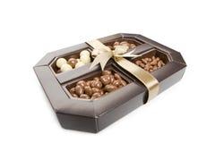 Box of chocolate candy Stock Photo