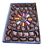 Box of chocolate candy Royalty Free Stock Photos