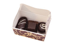 Box of Chocolate Candy Stock Photography