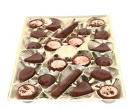 Box with chocolate candy. Royalty Free Stock Images