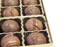Box of Chocolate Truffles Royalty Free Stock Photo