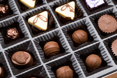 Box of chocolate truffles Royalty Free Stock Images