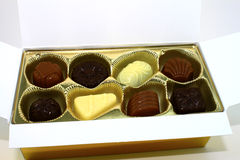 Box of chocolates Royalty Free Stock Photos