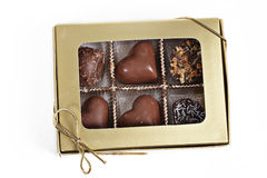 Box of chocolates. A small box of chocolates Stock Photo