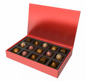 A box of chocolates Royalty Free Stock Photo
