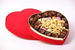 Box of Chocolates. Chocolates in a heart shaped box Stock Photography