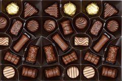 Box of chocolates background Royalty Free Stock Image